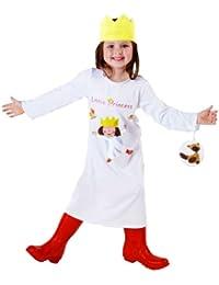 erdbeerloft - Mädchen Kleine Prinzessin- Kleid Krone Tasche mit Bärchen, weiß, 3-5 Jahre