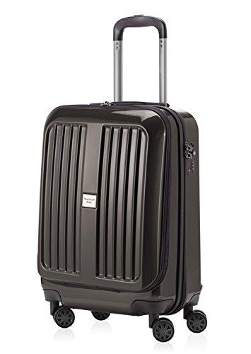 HAUPTSTADTKOFFER - X-Berg - Handgepäck Hartschalenkoffer Koffer Trolley, 55 cm, 42 Liter, TSA, Graphit