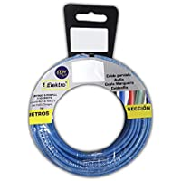 Carrete cablecillo flexible 4 mm. azul 50 mts. libre-halogeno