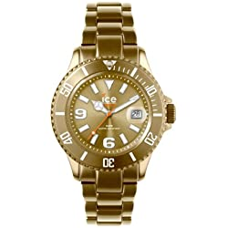 Ice-Watch Unisex Quartz Watch with Gold Dial Analogue Display and Gold Bracelet AL.GD.U.A