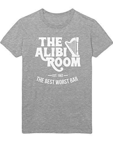 HYPSHRT Hombre T-Shirt Shameless Alibi Room C000414 Gris XL