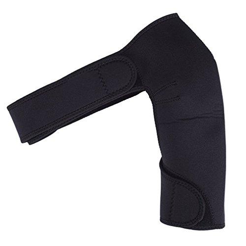 UNHO Schulterbandage Neopren Schulterstütze Schulterschutz für Rotatorenmanschette Verletzungen Reduziere Schulterschmerzen