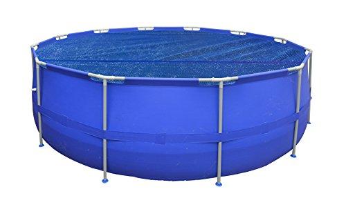 Jilong 17715 copertura solare galleggiante piscine tonde con struttura, blu, diametro 427 cm
