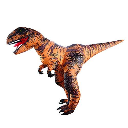 WJHCE Super T-Rex Aufblasbare Kostüm Bühnen Performance Lustiges Halloween Weihnachten Spiel Cosplay