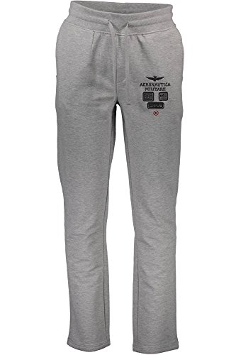 Aeronautica Militare Herren Hose Sweaterhose Jogginghose PANTS, Farbe: Grau, Größe: XXL