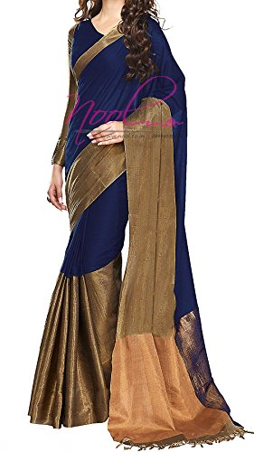 Saree (Women's Clothing Latest Designer Multi color Printed Bhagalpuri Silk Saree With Blouse Free Size Traditional Saree For Women By Traditional Fashion)  available at amazon for Rs.349