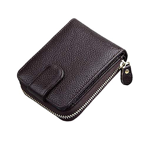 HeiPlaine Weiblich Führerschein Führerscheinpaket Leder Card Bag Ladies Wallet Card Griff Tasche (Farbe : Brown)
