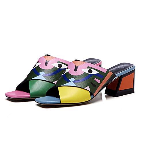 n Schuhe Sandalen Flats Thong Sandalen Sommer Schuhe Strand Flip Flop Hausschuhe,Orange,38 ()