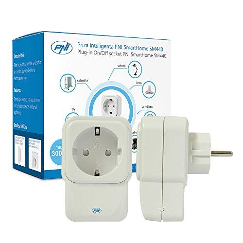 Prise intelligente Smart Plug, Smart Socket PNI SmartHome SM440 ON/OFF, minuterie, économie d'énergie, contrôlez vos périphériques de n'importe où pour iOS/Android