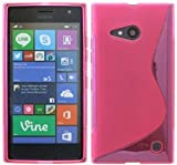 ENERGMiX Silikon Hülle kompatibel mit Nokia Lumia 730 Schutzhülle Case Cover Gel in Pink