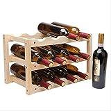 HUOXIAO Wein Regal Norwegen Für 12 Flaschen aus Nussbaum 46 X 28 X 24 cm