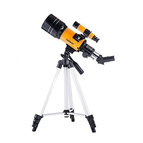 RUIRUI Astronomisches Teleskop, 300mm Brennweite 70mm Aperture Refractor Monocular Telescope 175X Linse mit Stativ Mondfilter Nachtsicht Stargazing