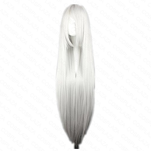COSPLAZA Perücke Inuyasha Sesshoumaru Suigintou lang Silber Weiß Anime Cosplay Wig Karneval Party Haar