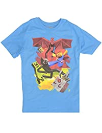 JINX Official Licensed Kids Minecraft Blue Samcube Battle T-Shirt Top Age 11-12 Years
