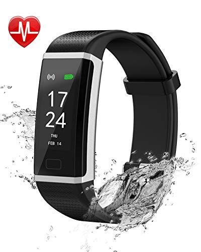 GIARIDE Fitness Tracker, Montre d'activité Physique avec Moniteur de  fréquence Cardiaque, Bracelet Intelligent étanche IP67 avec Compteur de