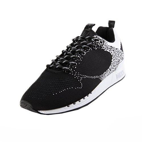 Djinns Easy Run Gator Knit Black White Noir