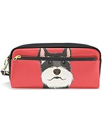 cfee5ea28 mydaily Schnauzer perro Lápiz caso lápiz bolsa de cosméticos bolso de la ...