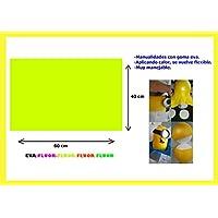 Artes Infinitas E4693 - Pack de 10 unidades Goma Eva Lisa, 40x60cm, color naranja