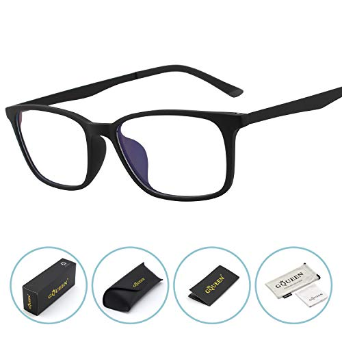 GQUEEN Blaulichtfilter Brille Anti Blaulicht Brille Computerbrille PC Gaming Brillen Herren Damen TR90, GQ61