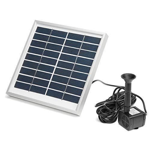 Especificaciones: Nombre: bomba de agua solar Energía: 3W Entrada: c.c. 4.5-10V El fluir máximo del agua: 200L/h Altura máxima del aerosol: el 150CM Tamaño: 175 * 175 * 18mm/6.9 * 6.9 * 0.7 in Características: -Solar-accionado y ahorro de la energía...