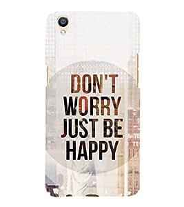 FUSON Don'T Worry Love It 3D Hard Polycarbonate Designer Back Case Cover for Oppo F1 Plus :: Oppo R9