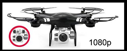WYXlink RC Quadcopter 1080p Weitwinkel-Objektiv 270 Grad rotierende HD-Kamera Drohne FPV Geschenk (Schwarz) - 3