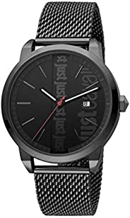 Just Cavalli Modern Men's Black Dial Stainless Steel Analog Watch - JC1G141M