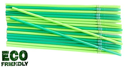 Pla Mais (Bio PLA Trinkhalme Cocktail - Caipirinha - Jumbo flexible Strohhalme 24 cm 500 S)
