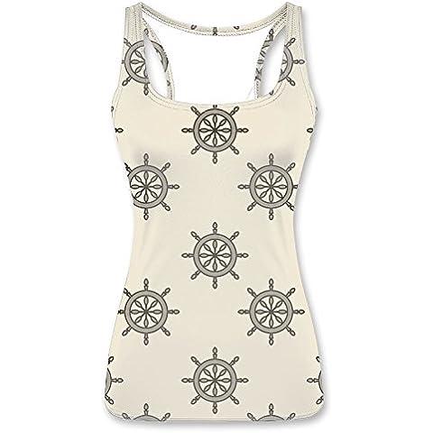 Women's Tank tops Shirts Vest Top - Polka Dots - Vintage Rudder - Flower Swirl