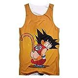Cosstars Japanese Anime Manga Tank Top Cosplay Kostüm 3D Gedruckt Pullover Weste Ärmellose T-Shirt Dragon Ball 1 XXXXL