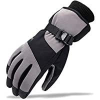 LANNIU Winter Ski Gloves,Men Thermal Gloves, Waterproof Windproof Touch Screen Warm Thinsulate Gloves for Cycling Motorcycle Hiking Snowboard