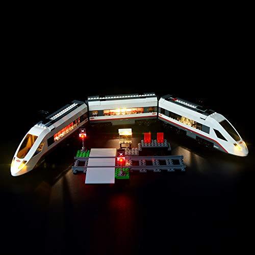 BRIKSMAX Treno Passeggeri Alta velocità Kit di Illuminazione a LED- Compatibile con Il Modello Lego 60051 Mattoncini da Costruzioni - Non Include Il Set Lego