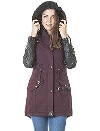 Brave Soul Olivia Womens Cotton Faux Fur Hooded Parka Jacket