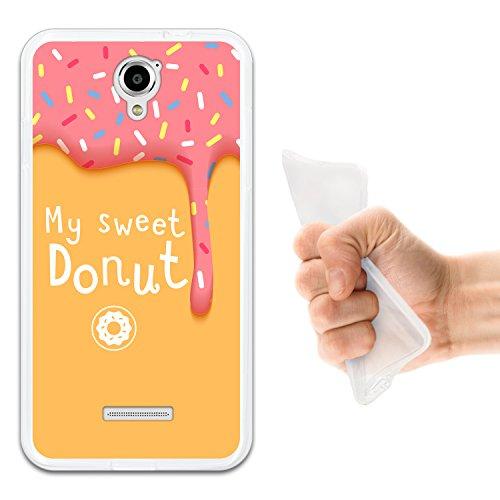 Coolpad Modena Hülle, WoowCase Handyhülle Silikon für [ Coolpad Modena ] My Sweet Donut Handytasche Handy Cover Case Schutzhülle Flexible TPU - Transparent