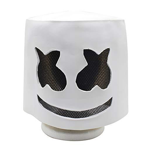 Story of life Halloween Maske Latex, Electronic Sound Festival Marshmallow DJ Kopfbedeckungsmaske, Halloween Party Requisiten