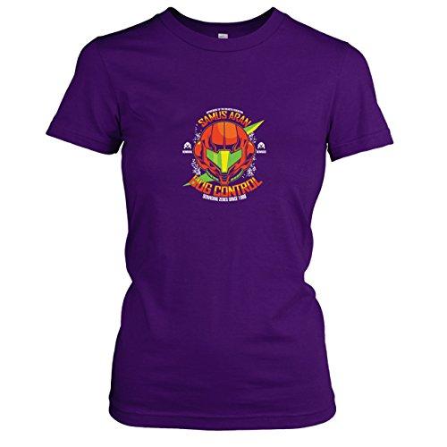 TEXLAB - Samus Bug Control - Damen T-Shirt, Größe XL, (Samus Metroid Kostüm)