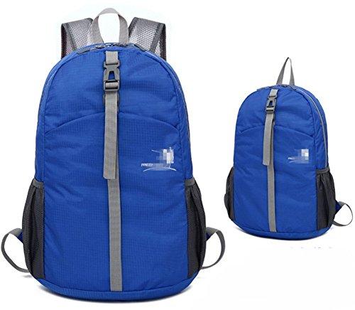Butterme Packable Handy ultra Leggero Campeggio d'escursione Esterno Viaggio Ciclismo Arrampicata Guida Sportiva Daypack Impermeabile Pacchetto di Nylon Zaino Borsa per donne e uomini (Nero) Azzurro