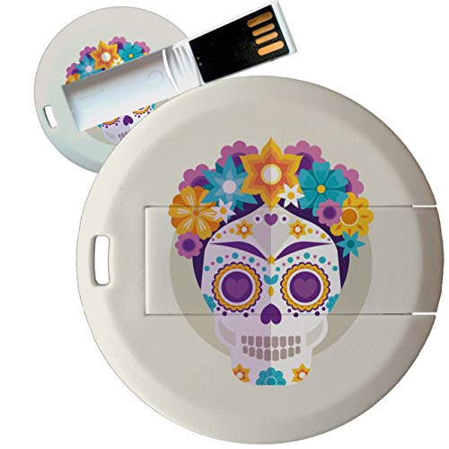 My Custom Style Pen Drive USB Kollektion #Halloween_A#4/8/16 Gb Coin Card_8 GB Halloween-Teschio_2