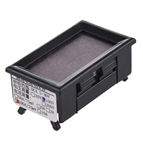 REFURBISHHOUSE 100V 100A DC Double voltmetre numerique amperemetre LED Amp voltmetre 12V w/shunt de Voiture