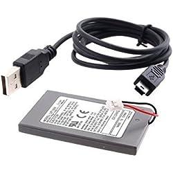 Link-e ® - Batterie rechargeable 1800mAh avec câble micro USB pour manette sans fil PS3 Playstation 3