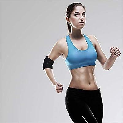 QH-shop Ellenbogen Gelenk Bandage Sport Ellenbogenschutz Atmungsaktiv Einstellbare Neopren Ellenbogenbandage für Fitness Sport Schwarz Unisex