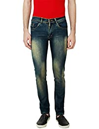 ANSH FASHION WEAR Men's Jeans - Contemporary Regular Fit Denims For Men - Washed Mid Rise Comfortable Jeans - B06XXKLPMT