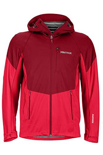 Marmot Herren ROM Jacket Softshelljacke Funktions Outdoor Jacke, Brick/Team Red, L
