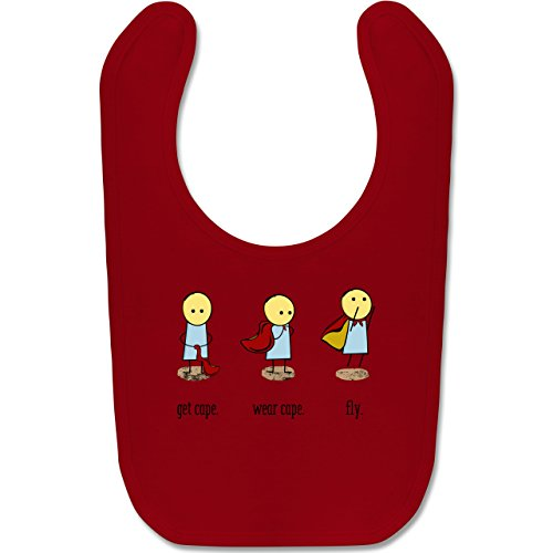 Shirtracer Up to Date Baby - Get cape. Wear cape. Fly. - Unisize - Rot - BZ12 - Baby Lätzchen Baumwolle