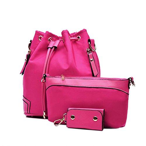 Tre Set Elegante Versatile Tempo Libero Comodo Borse Pink
