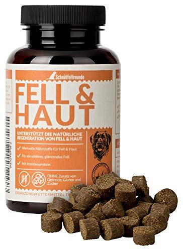 Schnüffelfreunde Fell & Haut I Integratore Alimentare per Cani - per Rafforzare Il Pelo e la Pelle del Cane - con Lievito di Birra e Olio di Cocco - Fatto in Germania