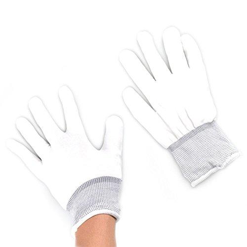 VENI MASEE LED Handschuhe blinken Licht Halloween Kostüm LED Skeleton Handschuhe oder Party Neuheit Geschenk 6 (Supermarkt Halloween Kostüme Party)