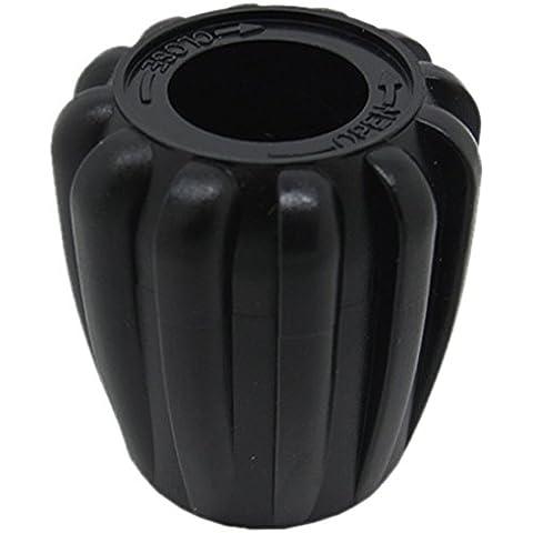 Scuba Choice - Perilla para válvula de botella de buceo - Redonda - Negro