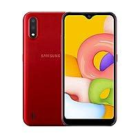 Samsung Galaxy A01 Dual Sim - 16 GB, 2 GB Ram, 4G LTE, Red, SM-A015F/DS