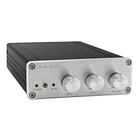 DROK® TPA5613 DC18 ~ 32V Verstärker 2,1 Kanal 150W + 2 * 75W Lautsprecher Stereo Subwoofer, 4 ~ 8 Ohm AV Audio Signal Endstufe für Heimkino-und professionelles Audiosystem